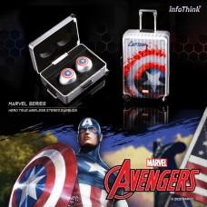 infoThink Marvel series Les héros true wireless Bluetooth headset-Captain America
